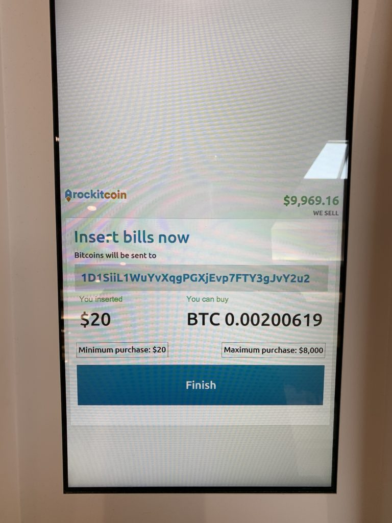 Amount of BTC You Purchased